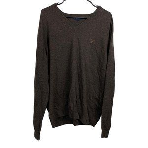 GANT Wool Sweater Mens Size 2XL Brown Pullover Classic Fit Retro Pullover